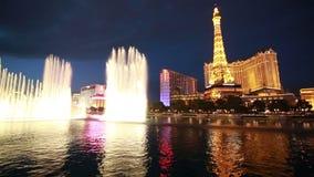 Bellagio fontanny przedstawienie Zdjęcie Stock