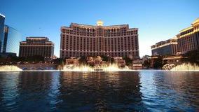 Bellagio fontanny przedstawienie Zdjęcia Royalty Free