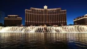 Bellagio fontanny przedstawienie Zdjęcia Stock