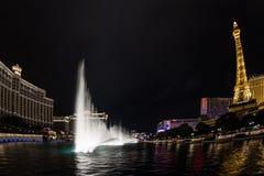 Bellagio fontanny przedstawienie Obraz Royalty Free