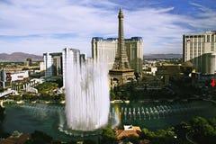 Bellagio fontanny przy wieczór Obrazy Stock