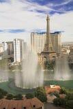 Bellagio fontanny przy wieczór Obrazy Royalty Free