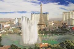 Bellagio fontanny przy wieczór Zdjęcia Stock