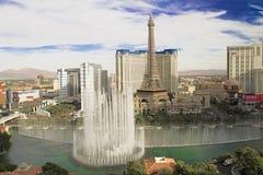 Bellagio fontanny przy wieczór Fotografia Royalty Free
