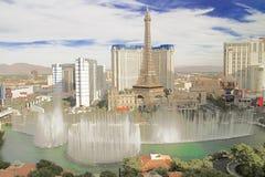 Bellagio fontanny przy wieczór Obraz Stock
