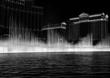 Bellagio Fountain in Las Vegas. The Bellagio Fountain at night in Las Vegas stock images
