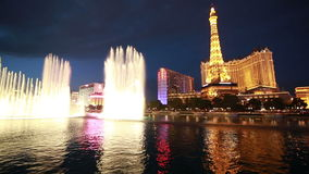 Bellagio Fountain Show stock video footage