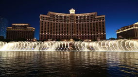 Bellagio Fountain Show. Common view of Bellagio fountain show in Las Vegas, USA