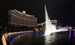 Bellagio fountain show Stock Images