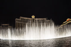 Bellagio fountain show Royalty Free Stock Images