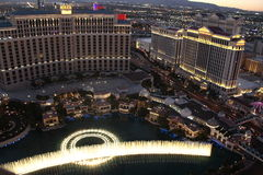 Bellagio fountain show,Las Vegas Nevada state America Stock Photography