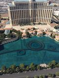 Bellagio Fountain View From ET Top. Picture Of Bellagio Hotel, Fountain stock images