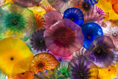 Bellagio glass flowers Royalty Free Stock Image