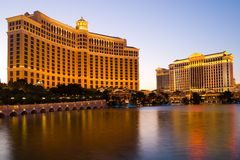 Bellagio Hotel and Caesars Palace Royalty Free Stock Photos
