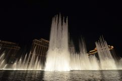 Bellagio Hotel and Casino, fountain, water, water feature, night. Bellagio Hotel and Casino is fountain, night and geyser. That marvel has water, reflection and stock photo