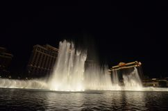 Bellagio Hotel and Casino, fountain, atmospheric phenomenon, landmark, night. Bellagio Hotel and Casino is fountain, night and reflection. That marvel has stock photography