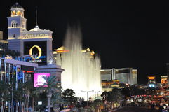 Bellagio hotel & casino fountains in Las Vegas Stock Photography