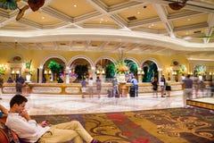 Bellagio Hotel and Casino lobby Stock Photos