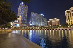 Bellagio Hotel and Casino, reflection, metropolitan area, cityscape, water. Bellagio Hotel and Casino is reflection, water and night. That marvel has stock photography