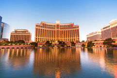 Bellagio Hotel Casino during sunset Stock Photo