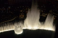 Bellagio Hotel and Casino, water, reflection, fountain, night. Bellagio Hotel and Casino is water, night and darkness. That marvel has reflection, water feature stock photos
