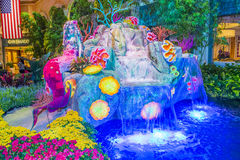 Bellagio Hotel Conservatory & Botanical Gardens. LAS VEGAS - Aug 14 : Summer season in Bellagio Hotel Conservatory & Botanical Gardens on August 14 , 2015 in Las royalty free stock image
