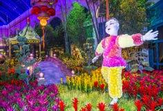 Bellagio Hotel Conservatory & Botanical Gardens. LAS VEGAS - JAN 19 : Chinese New year in Bellagio Hotel Conservatory & Botanical Gardens on January 19, 2015 in royalty free stock image