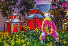 Bellagio Hotel Conservatory & Botanical Gardens Royalty Free Stock Photos