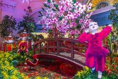 Bellagio Hotel Conservatory & Botanical Gardens. LAS VEGAS - JAN 08 : Chinese New year in Bellagio Hotel Conservatory & Botanical Gardens on January 08 2017 in stock photography