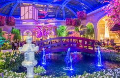 Bellagio Hotel Conservatory & Botanical Gardens. LAS VEGAS - MARCH 26: Spring season in Bellagio Hotel Conservatory & Botanical Gardens on March 26 2015 in Las stock image