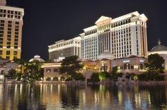 Bellagio Hotel en Casino, Bellagio Hotel & Casino, bezinning, water, stad, oriëntatiepunt stock afbeelding