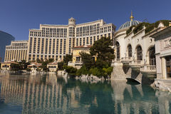 The Bellagio Hotel and lake in Las Vegas, NV on April 27, 2013 royalty free stock photo