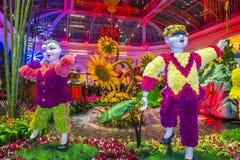 Bellagio hotelldrivhus & botaniska trädgårdar Arkivbilder