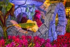 Bellagio hotelldrivhus & botaniska trädgårdar Royaltyfri Bild