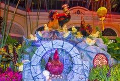 Bellagio Hotelserre & Botanische Tuinen Stock Foto