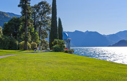 Architectures and landscapes of Como Lake Stock Image