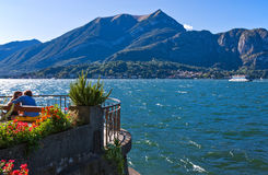 Architectures and landscapes of Como Lake Stock Photography