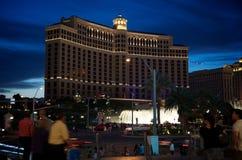 Bellagio-Kasino nachts Lizenzfreie Stockbilder