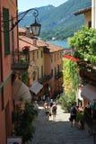 Bellagio lake av comoen, Italien Fotografering för Bildbyråer