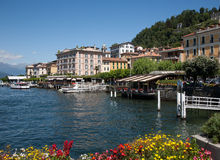 Bellagio on Lake Como. A scene of the village of Bellagio on Lake Como on a Summer afternoon Stock Photo