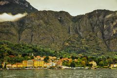 Bellagio from Lake Como, Italy Stock Image