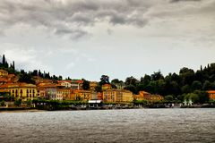 Bellagio from Lake Como, Italy Royalty Free Stock Images