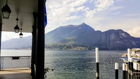 Bellagio, Lake Como, Italy. Ferry docks daytime Stock Photo
