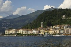 Bellagio, Lake Como, Italy. A view coming into Bellagio on the ferry service Stock Images