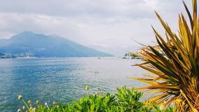 Bellagio on Lake Como, Lombardy, Italy. Cloudy afternoon facing Alps Stock Photos