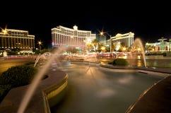 Bellagio in Las Vegas at night Royalty Free Stock Photo