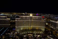 Bellagio Las Vegas by night, from the top Stock Photos