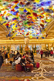 Bellagio lobby with Artwork  by Dale Chihuly. Royalty Free Stock Photo