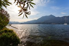 Bellagio, Lombardia, Lombardy, Italy - Como lake at sunset. Bellagio Lombardia Lombardy Italy - Como lake at sunset Royalty Free Stock Photography