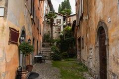 Bellagio miasto na Jeziornym Como, Włochy Lombardy region Włoska ulica, europejski arhitecture Obrazy Royalty Free
